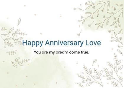 anniversary card 60 text floraldesign