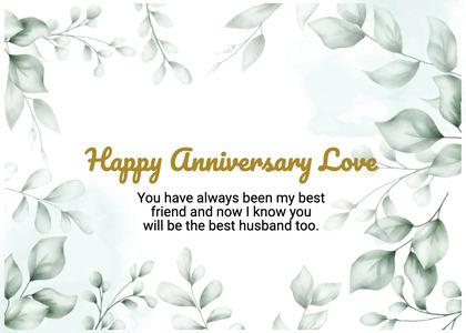 anniversary card 61 floraldesign graphics