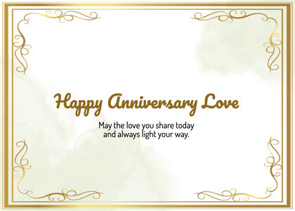 anniversary card 68 text label