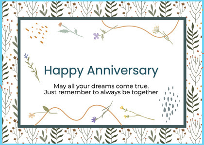 anniversary card 71 text paper