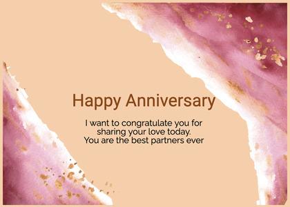 anniversary card 72 cream creme