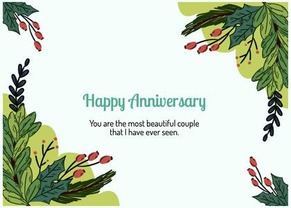 anniversary card 74 plant vegetation