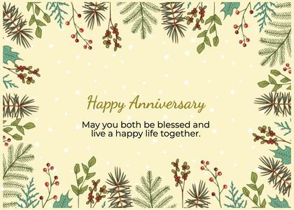 anniversary card 83 pottedplant vase
