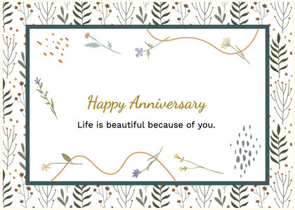 anniversary card 85 text label