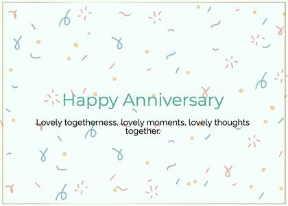 anniversary card 86 paper confetti
