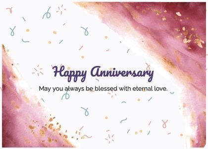 anniversary card 89 paper confetti
