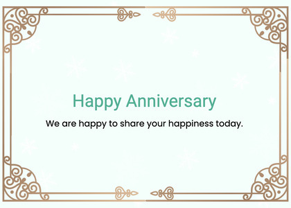 anniversary card 90 text page
