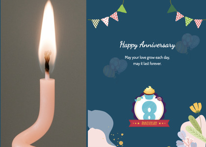anniversary card 97 fire candle