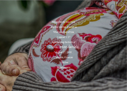 babybirth card 10 clothing apparel