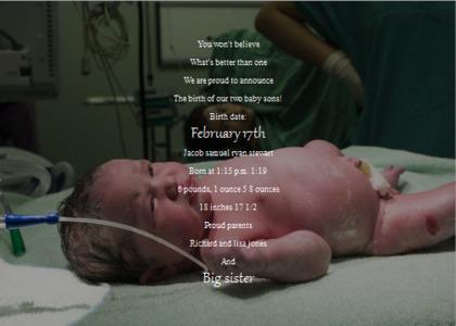 babybirth card 13 newborn person
