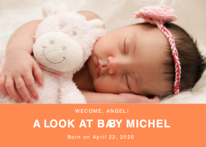 babybirth card 4 newborn person