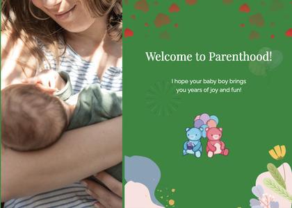 babyshower card 101 person human