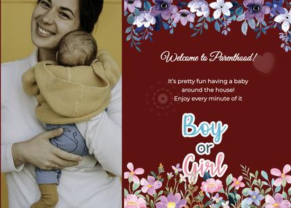 babyshower card 106 envelope mail