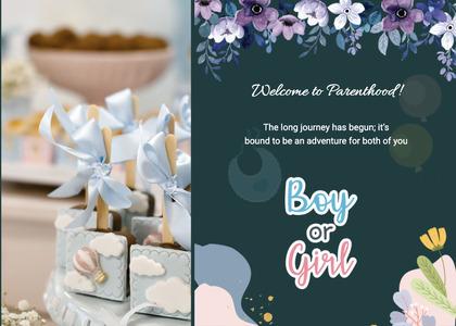babyshower card 110 paper birthdaycake