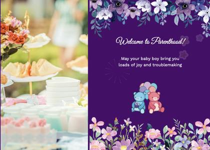 babyshower card 113 person weddingcake