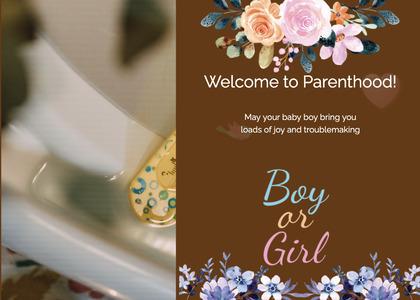babyshower card 114 envelope mail