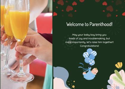 babyshower card 115 juice beverage