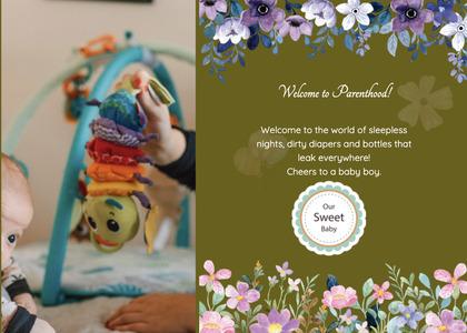 babyshower card 117 envelope person