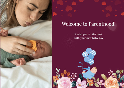 babyshower card 120 person human