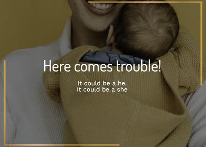 babyshower card 129 hug person