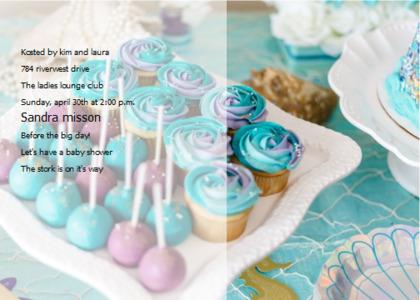babyshower card 13 food birthdaycake