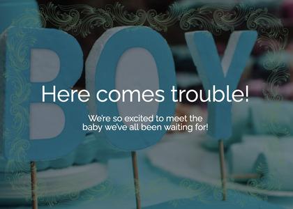 babyshower card 148 number text