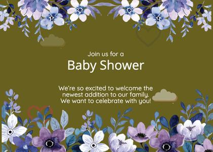 babyshower card 149 advertisement poster