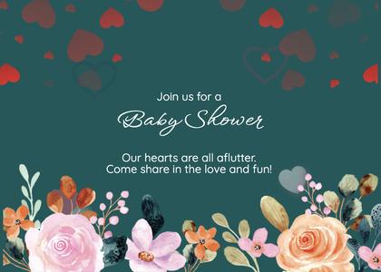 babyshower card 150 envelope mail