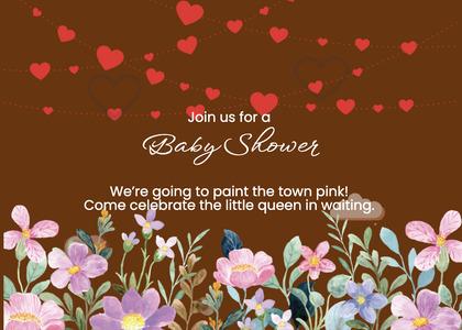 babyshower card 151 envelope mail