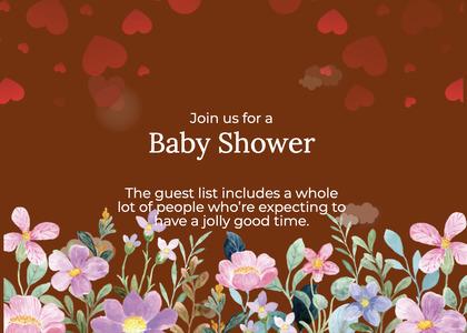 babyshower card 152 flyer advertisement