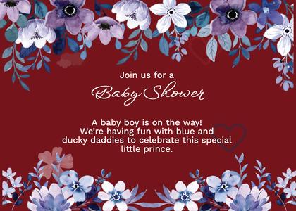 babyshower card 153 envelope mail