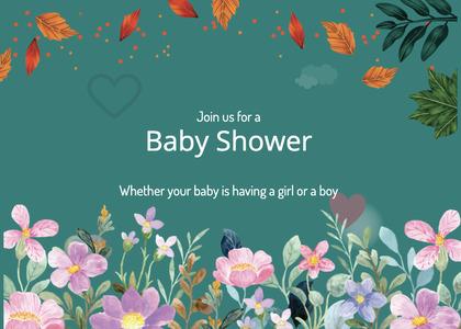 babyshower card 154 fish animal