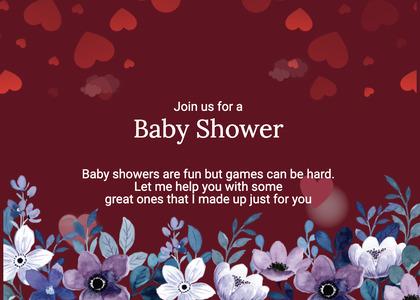 babyshower card 155 envelope mail