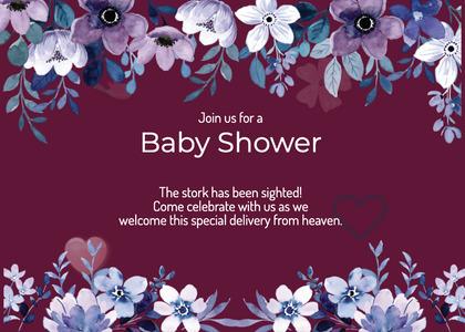 babyshower card 157 advertisement flyer