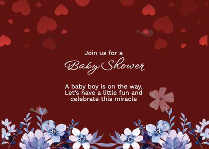 babyshower card 158 envelope mail
