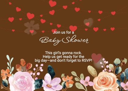 babyshower card 160 paper flyer