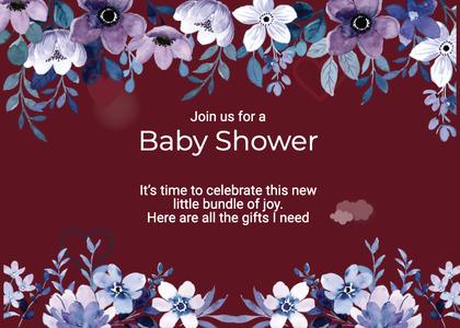 babyshower card 161 envelope mail