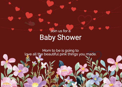 babyshower card 162 advertisement poster