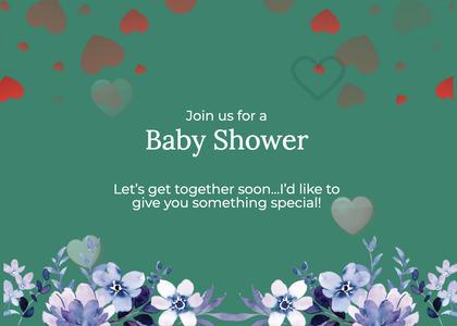 babyshower card 164 envelope graphics