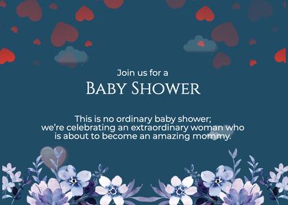 babyshower card 166 advertisement poster