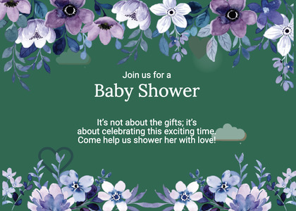 babyshower card 167 plant flower
