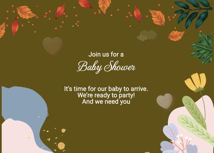 babyshower card 168 envelope mail