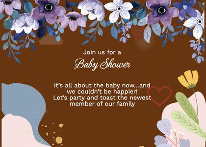 babyshower card 169 advertisement flyer