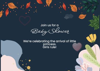 babyshower card 170 envelope mail