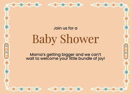 babyshower card 173 text business card
