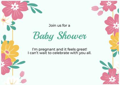babyshower card 175 floraldesign graphics