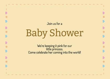 babyshower card 184 text paper