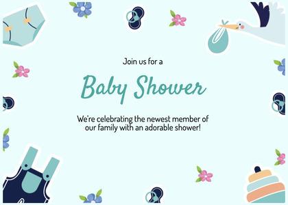 babyshower card 185 text paper