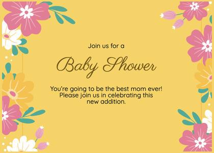 babyshower card 186 envelope floraldesign