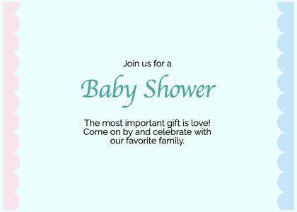 babyshower card 188 text business card